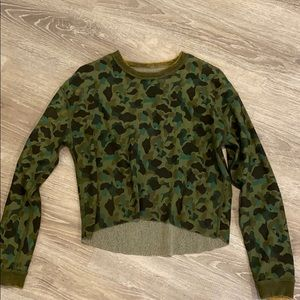 Reverse-able long sleeve sweater